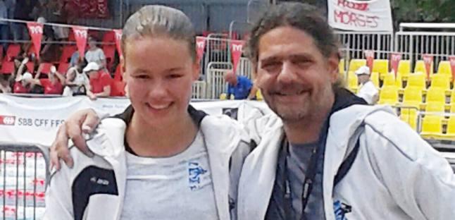 Alexa Kid und ihr Trainer Reggie Thür in Tenero.