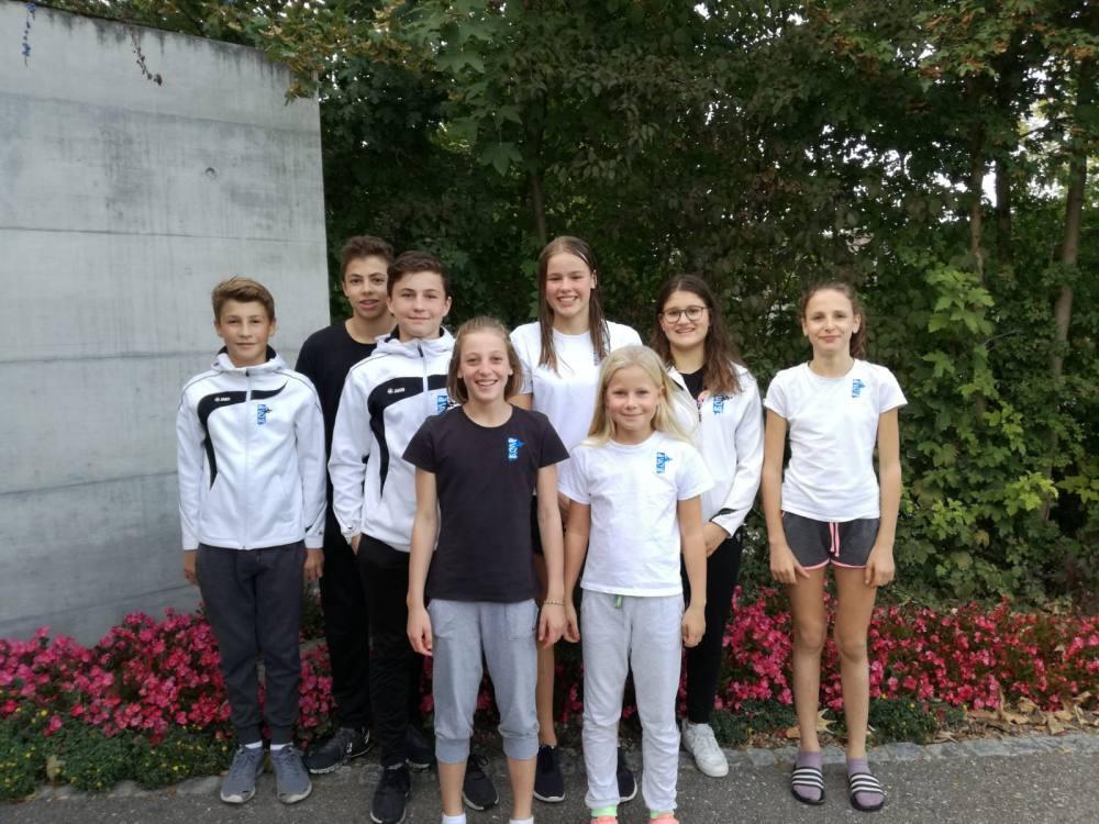 Nevio Enzler, Maurus Dörig, Aleck Hübner, Leonie Dörig, Alexa Kid, Cheyenne Holenstein, Lavinia Thür und Rahel Inauen in Frauenfeld.