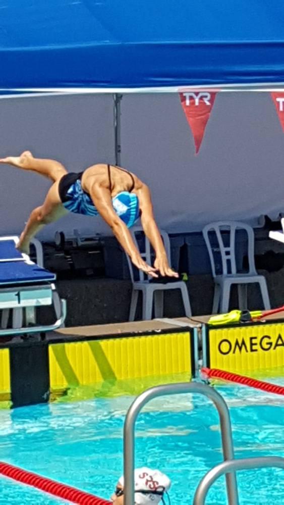 Alexa Kid vom Schwimmclub Appenzell schwamm an der Schweizer Nachwuchsmeisterschaft in Romanshorn.