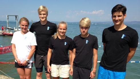 Teilnehmer des Schwimmclub Appenzell: Priska Lämmler, Adrian Sousa-Poza, Lea Schmidt, Andrin Schmidt und Christof Stäger.