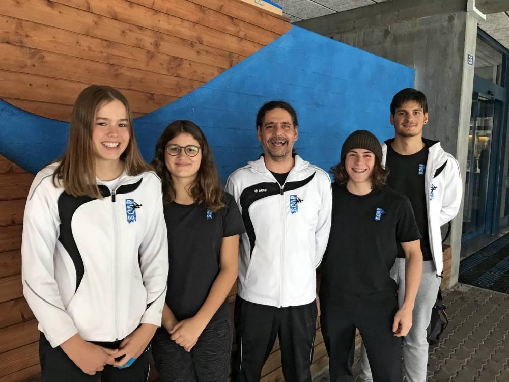 Die Sonntags-Crew: Alexa Kid, Lavinia Thür, Trainer Reggie Thür, Jonas Pracht und Christof Stäger.