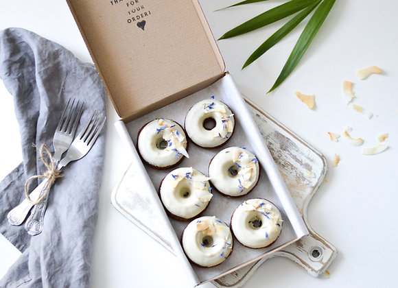 Coconut Baked Doughnuts Box of 6