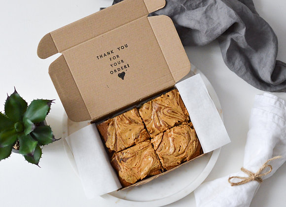 Peanut Butter Chickpea Blondies Small Box (4 pcs)