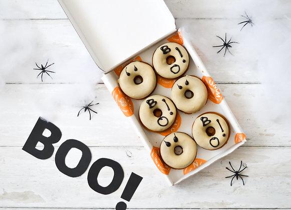 Halloween Ghost Pumpkin Spice Baked Doughnuts Box of 6