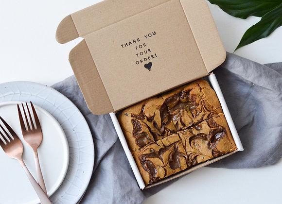 Caramel Chickpea Blondies Small Box (4 pcs)