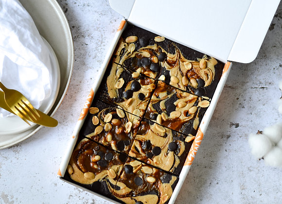 Salted Caramel & Peanut Brownies Box of 8