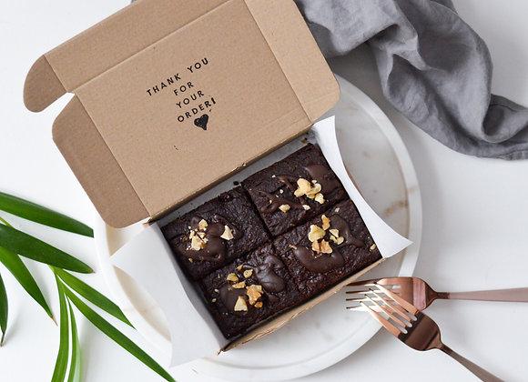 Double Chocolate Avocado Brownies Small Box (4 pcs)