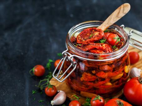 Tomates secos al sol en aceite de oliva