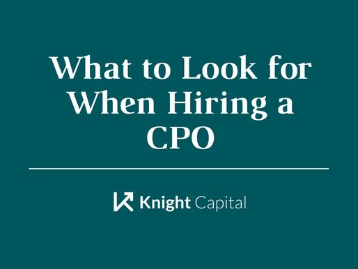 What to Look for When Hiring a CPO