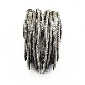 Silver cast link inspired by ferrofluid