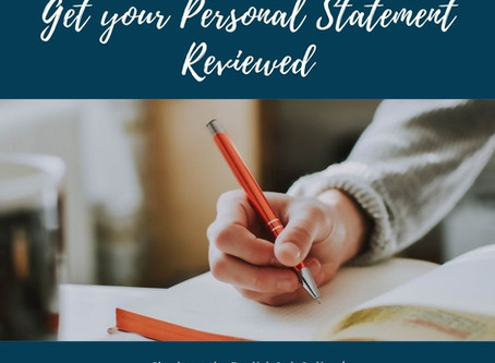 Get your Personal Statement Reviewed!
