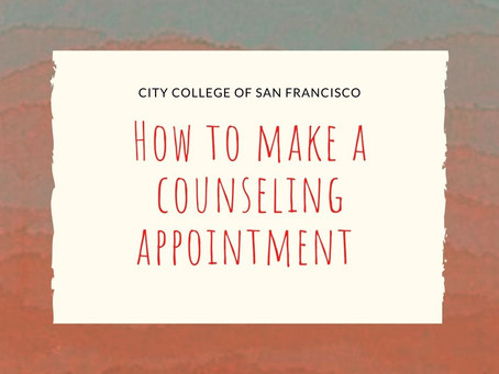 How to Make a Counseling Appointment !
