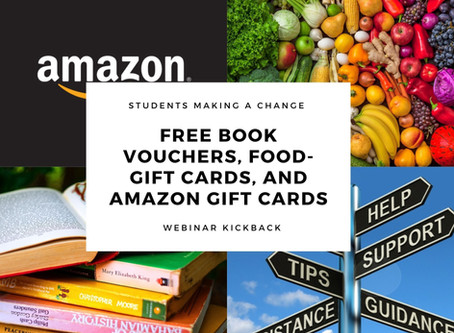 FREE Book Vouchers, Food-Gift Cards, and Amazon Gift Cards