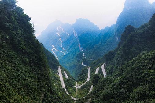 view-of-winding-road-of-tianmen-mountain