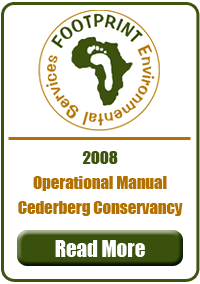 Operational Manual, Cederberg Conservancy