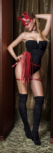 Dominatrix with ponny tail