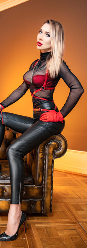 Mistress in leather pants