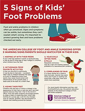 Warning Signs for Kids Feets