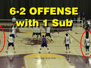 6-2 Offensive System with 1 Sub