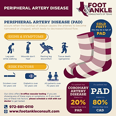 Peripheral Artery Disease, decreased blood flow, cold feet, restless legs, gangrene, smokers, diabetes, seniors, Coronary Artery Disease
