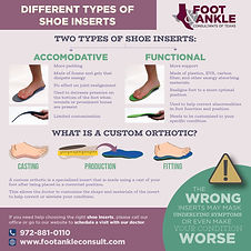 Different Types of Shoe Inserts