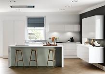 J Pull, Handleless, Gloss Kitchen, installation, 3D CAD design, photo renders