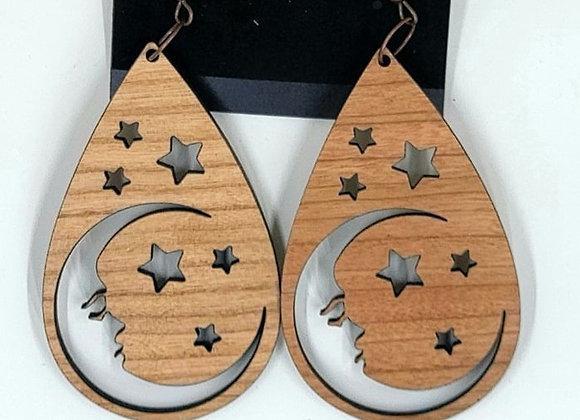 Moon ear rings