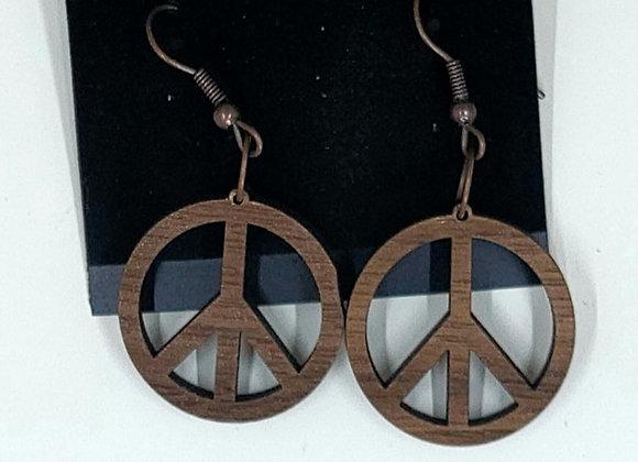 Smaller Peace Sign Earrings