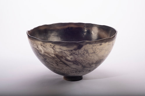 Large smoke fired deep bowl (316/21)