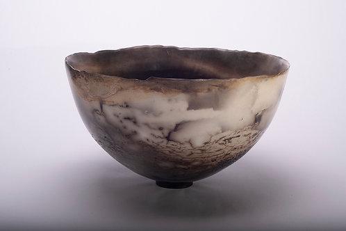 Large smoke fired deep bowl (311/21)