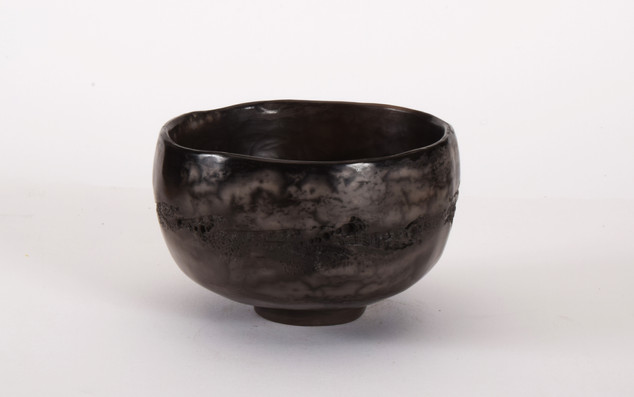 small  tea bowl blk.