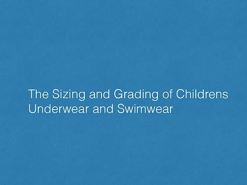Childrens underwear & Swim Grading