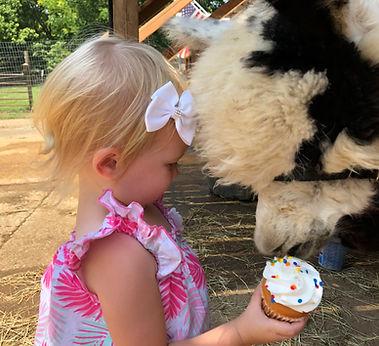 Lilly Ann & Teddy share a cupcake.jpg