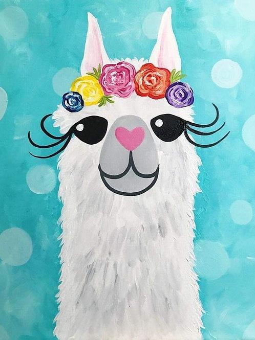Paint & Sip Alpaca July 31st ticket