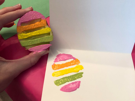 Easter Stamps Made Easily with a Potato & Paper Towel Rolls