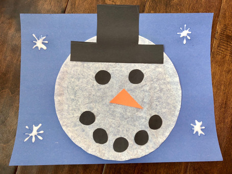 Coffee Filter Snowman Quick Craft