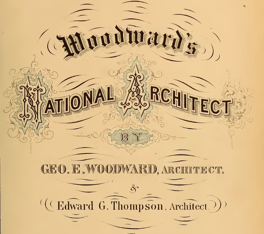 Woodward's National Architect Title Page c. 1869
