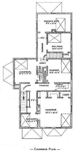 """Original Second Floor """"Chamber"""" Floor Plan"""