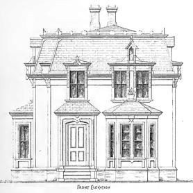 Original Front Elevation Sketch