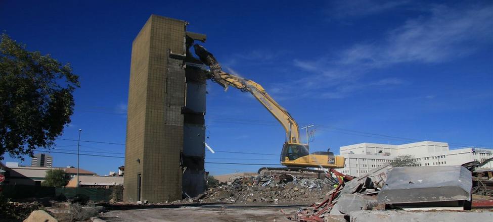 Demolition of office building in Phoenix