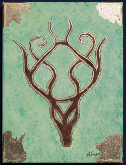 Stained Glass Nouveau Stag t