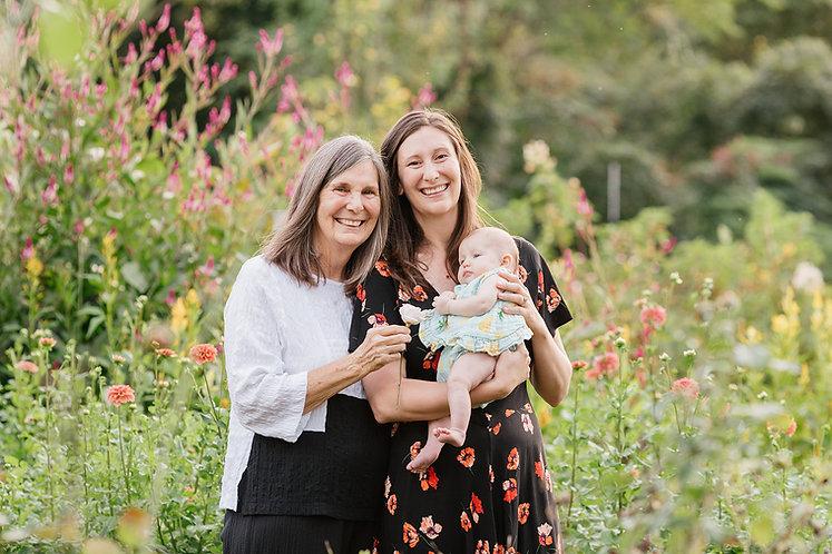 Happy Three Generation Family
