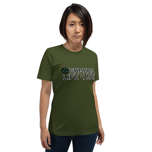 A Gamers Life for me Short-Sleeve Unisex T-Shirt