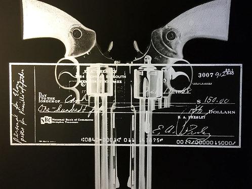 RUSSELL MARSHALL 'ELVIS GUN...CHEQUE-SILVER'