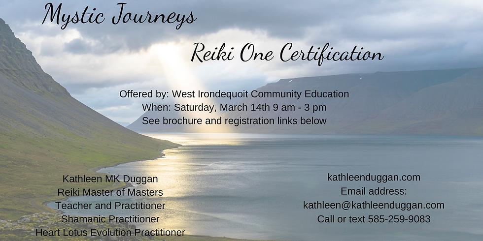 Reiki One Certification