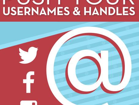 Push Your Username & Handles!