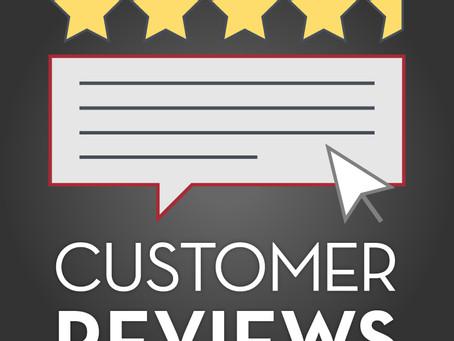 Customer Reviews Matter!