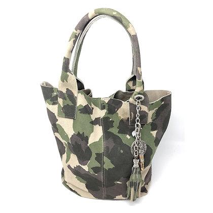 Wildleder Shopper Arosa Camouflage - Der Allrounder - Alles passt rein