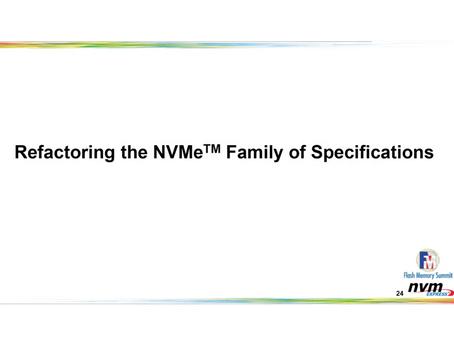 NVMe仕様の内部構造の改善