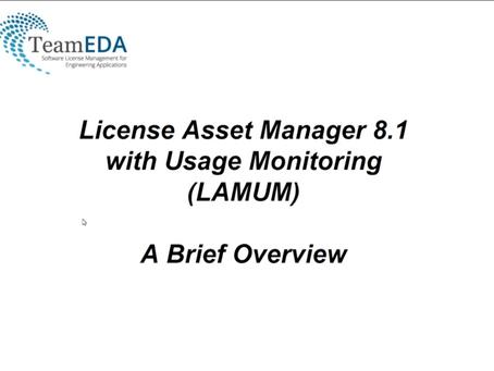 TeamEDA LAMUM(ライセンス・アセット管理ソフトウエアツール)